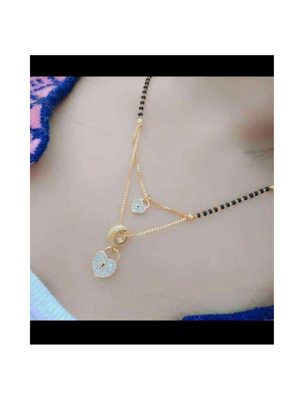 Double Layer Mangalsutra Design Gold Latest 2019