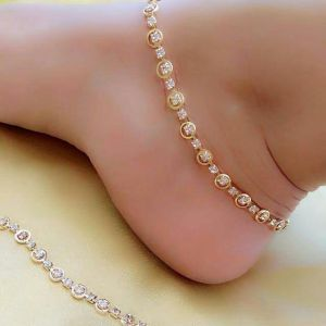 Light Weight Gold Plated Anklets For Women