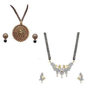 Combo Amercian Diamond Party wear mangalsutra for women
