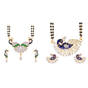 Combo peacock inspired daily wear mangalsutra for women