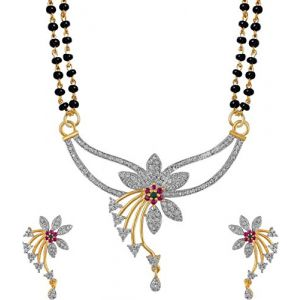 Flower Inspired Mangalsutra Set