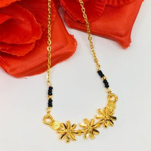 Daily Wear Flower Inspired Mangalsutra With 18 Inches Length Chain