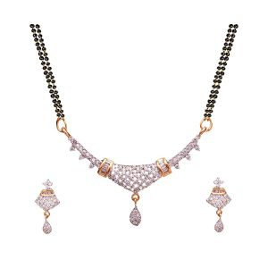 Trendy American Diamond Manglsutra Set