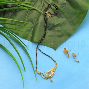 Gold Plated Peacock Mangalsutra Set