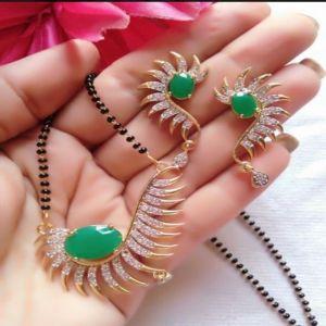 Green Mangalsutra Set
