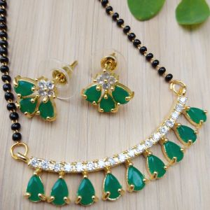 Green Stone Mangalsutra Set for women