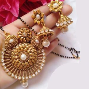 Gold Plated Party Wear Mangalsutra Set