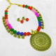 Multicolored Bohemian Necklace Set